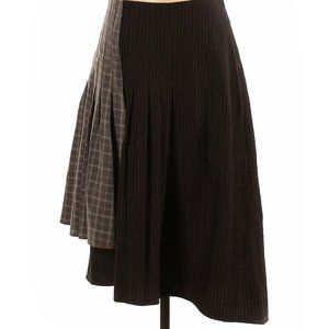 Hazel Asymmetrical Pinstriped & Plaid Skirt